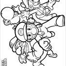 Super Mario Brothers color page