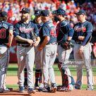 Atlanta Braves Dallas Keuchel walking off mound during pitching...