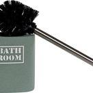 Toilet Brush DKD Home Decor Green Cream Stainless steel Cement 2 pcs 12 x 9.5 x 36.5 cm