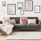 Salas color de rosa: decora con este romántico color