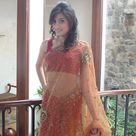 Beautiful Desi Aunty in Brown Saree