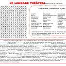 Mots Meles Et Cours Sur Le Theatre Le Langage Theatral 3e Mots Meles Enseignement Et L Enseignement Du Francais