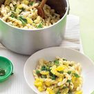 Gemelli with Yellow Squash, Peas, and Basil Recipe