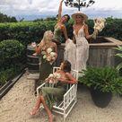 Romantic Sheath Hunt Green Satin Tea Length Bridesmaid Dresses