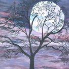 Free Image on Pixabay   Moon, Full Moon, Tree, Night