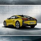 BMW i8 Protonic Frozen Yellow 2018 posters