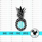 Pineapple Monogram Frame, Hawaiian Islands, Summer Vacay, Be a Pineapple SVG, Clipart, Print and Cut File Stencil, Silhouette, dxf, png, jpg