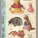 Winnie the Pooh Sewing Pattern McCalls 8087  1960s Pooh Bear | Etsy