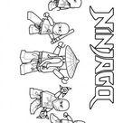Printable Ninjago Ninja Team Coloring Page for boy - Free Kids Coloring Pages Printable