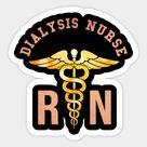 Dialysis Nurse Rn Distressed Vintage Caduceus Medical Symbol Sticker