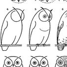 How to Draw an Owl - with Printable Worksheet
