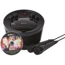 Groove Portable Karaoke Boombox with CD Player with Bluetooth Playback - Black