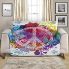 Couch Cover - Peace on the Beach by Coastal Passion, Set of 2 Cushion Covers (Size: 70 x 70 cm)