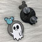 Spooky Ghost V2  - Enamel Pin - Blue/Grey