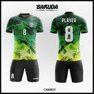 Desain Jersey Futsal Camroy Motif Loreng Gradasi Warna Hijau Kekinian