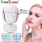 7 Color Photon Led Facial Neck Mask For Skin Rejuvenationacne Pore    Standard