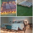 Hängebett selber bauen: 44 DIY Ideen für Bett aus Paletten im Garten - DIY, Garten - ZENIDEEN