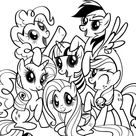 My Little Pony para colorir - Blog Ana Giovanna