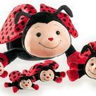 Schaffer 4340 Bolle Ladybug Cuddle Toy, 11 cm, Red/Black, Multicoloured