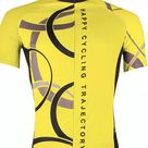 Men's Short Sleeve Cycling Jersey Polyester White Yellow Red Bike Jersey Top Mountain Bike MTB Road Bike Cycling Breathable Quick Dry Ultraviolet Resistant Sports Clothing Apparel Yellow-3XL