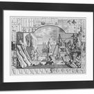 Framed Photo. Analysis of Beauty, Plate 1, 1753 engraving