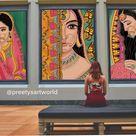 Indian Royal Lady Art PrintPrintable Indian Wall ArtIndian | Etsy