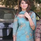 Local Hot Girl in Cyan Salwar Kameez Dress
