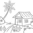 Gambar Mewarnai Rumah Sederhana