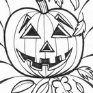 Halloween Pumpkins Smiling Coloring Page - Download & Print Online Coloring Pages for Free