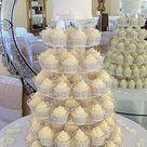 White Wedding Cupcakes Filigree Cupcake Cases Woodborough Hall Nottingham
