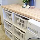 How To Sort Your Laundry In Style - Cool Laundry Basket Holder Ideas