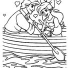 Ariel And Prince Eric in a boat coloring page   Free Printable Coloring Pages