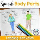 El Cuerpo Body Parts Spanish Labeling Activities