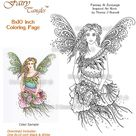 Innocence Fairy Tangles Printable Adult Coloring book Sheets &   Etsy