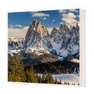 Box Canvas Print. Scenic winter view over Seiser Alm - Alpe di
