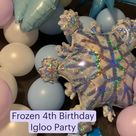 Frozen Birthday  Balloon Garland