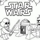 Einfach Star Wars Malvorlagen Zum Ausmalen Für Kinder  Für Baut Konzentration Und Konzentrati...