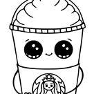 Starbucks Cups Kawaii Coloring Pages Printable