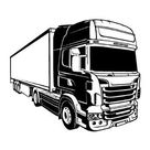 Truck #11 Llustration Trucking Service Logistic Transportation Transport Business .Svg .Eps .Png Clipart Vector Tattoo Cricut Cut Cutting