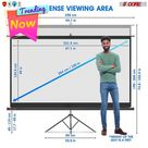 Projector Stand Tripod Screen  100 inch  16:9 Indoor Outdoor Movie Screen Easy Installation 8K Ultra HD 3D TR84 5 Core SCREEN TR 100  ⭐⭐⭐⭐⭐Ratings ✔️ Best Deal