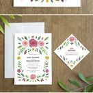 Botanical Garden Baby Shower Invitation with Watercolor   Etsy