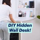 DIY Hidden  Wall Desk!