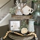 Rustic farmhouse style signs now in two sizes Tiered tray   Etsy