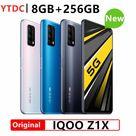 Original New Vivo IQOO Z1X 5G Smart Phone 8GB RAM 256GB ROM 6.57 Inch 120Hz Screen 5000mAh Battery 33W Super VOOC Cell Phone
