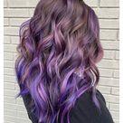 balayage hair purple