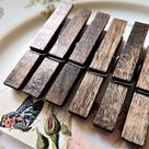 WOODEN CLOTHESPINS Clothes Pin Decorative Magnet Push Pin Thumbtack Set Painted Holder Cubicle Decor Clip Peg Magnetic Office Supply Wedding