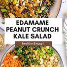 Asian Inspired Edamame Peanut Crunch Salad