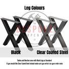 Reclaimed Dining Table - Indoor & Outdoor Table - Black Steel X Frame Legs Chunky Farmhouse Industrial Oak Pine