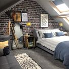 An exposed brick feature wall mural with Rebel walls. - Kerry Lockwood - In Detail