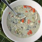 Creamy Chicken and Wild Rice Soup - Emily Bites